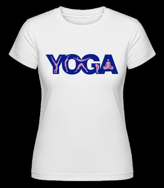 Yoga Sign Blue - T-shirt Shirtinator femme - Blanc - Vorn
