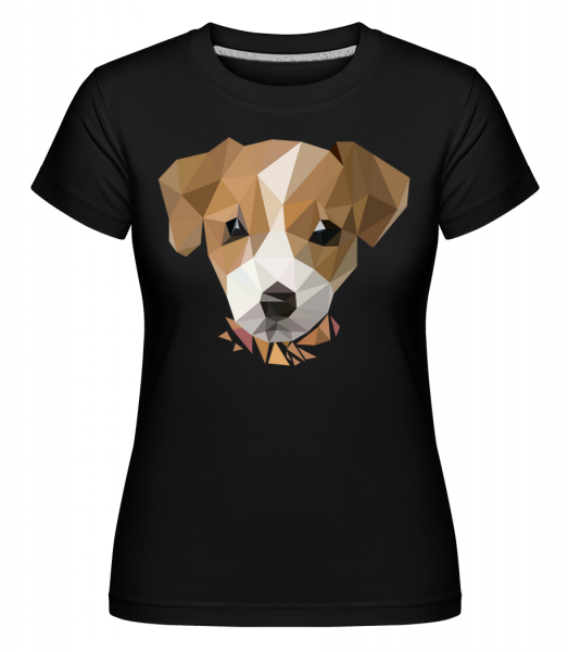 Polygon Chien - T-shirt Shirtinator femme - Noir - Vorn