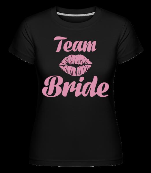 Team Bride Kiss - T-shirt Shirtinator femme - Noir - Vorn