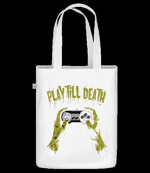 Play Till Death - Sac en toile bio Earth Positive - Blanc - Vorn