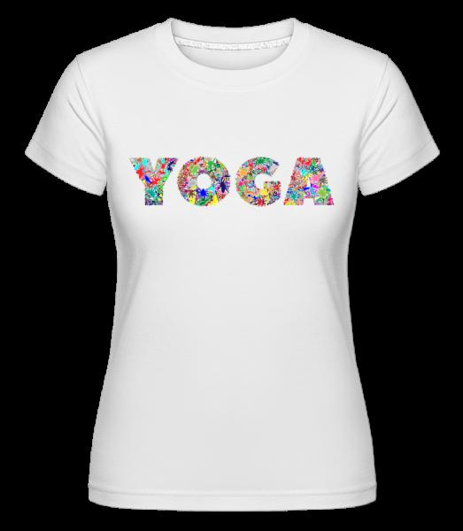 Yoga Fleurs - T-shirt Shirtinator femme - Blanc - Vorn