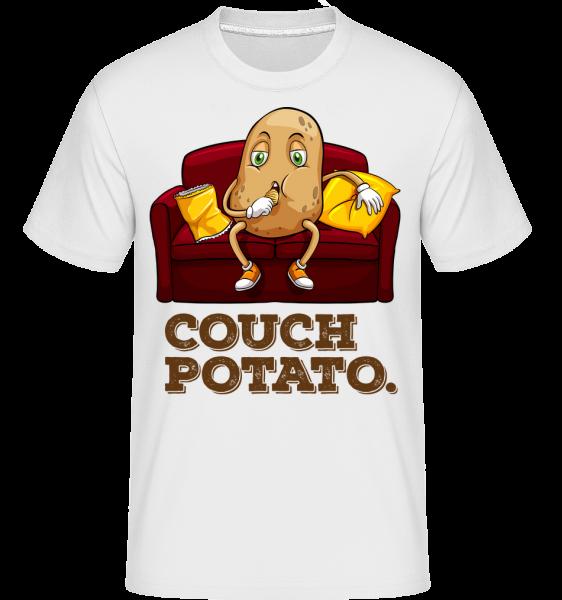 Couch Potato - T-Shirt Shirtinator homme - Blanc - Vorn