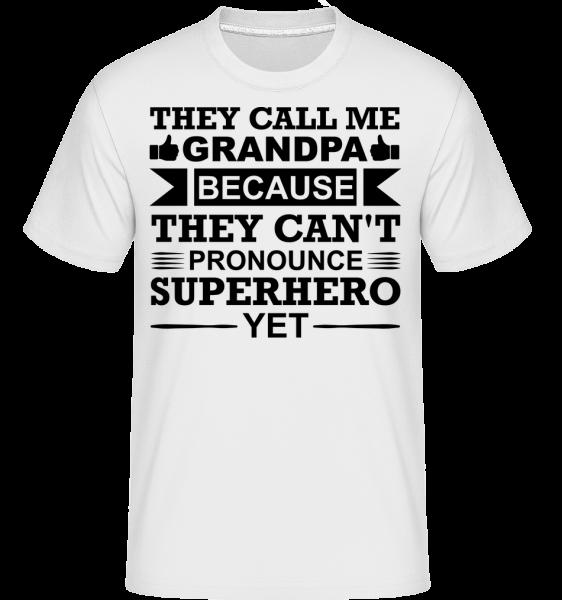 Grandpa Superhero - T-Shirt Shirtinator homme - Blanc - Vorn